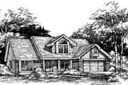 Traditional Style House Plan - 3 Beds 2.5 Baths 1926 Sq/Ft Plan #320-115 Exterior - Front Elevation