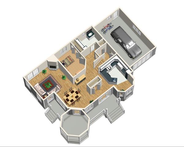 Victorian Floor Plan - Main Floor Plan Plan #25-4742