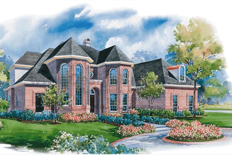 Home Plan - European Exterior - Front Elevation Plan #20-1199