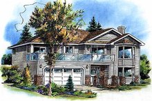 House Blueprint - Traditional Exterior - Front Elevation Plan #18-1018
