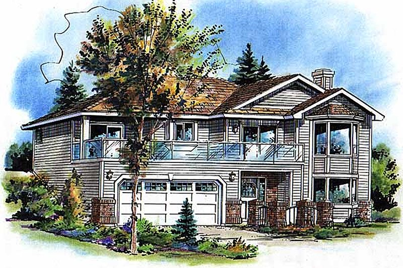 Traditional Exterior - Front Elevation Plan #18-1018