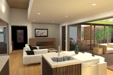 Contemporary Interior - Family Room Plan #484-7