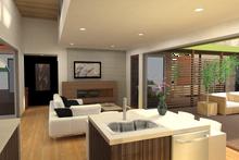 House Design - Contemporary Interior - Family Room Plan #484-7