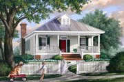 Southern Exterior - Front Elevation Plan #137-271