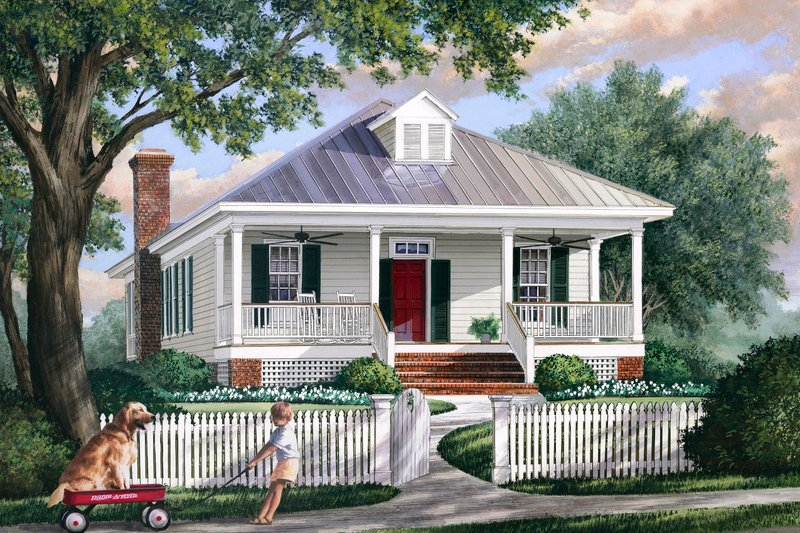 Dream House Plan - Southern Exterior - Front Elevation Plan #137-271