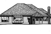 European Style House Plan - 3 Beds 2 Baths 1887 Sq/Ft Plan #20-605 Exterior - Rear Elevation