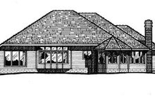 European Exterior - Rear Elevation Plan #20-605