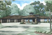 Contemporary Style House Plan - 4 Beds 3.5 Baths 4183 Sq/Ft Plan #17-2551 Exterior - Front Elevation
