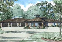 Architectural House Design - Mediterranean, Contemporary, Modern, Front Elevation