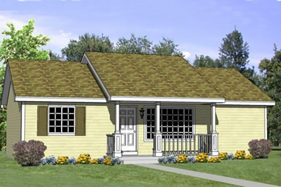 Traditional Exterior - Front Elevation Plan #116-265