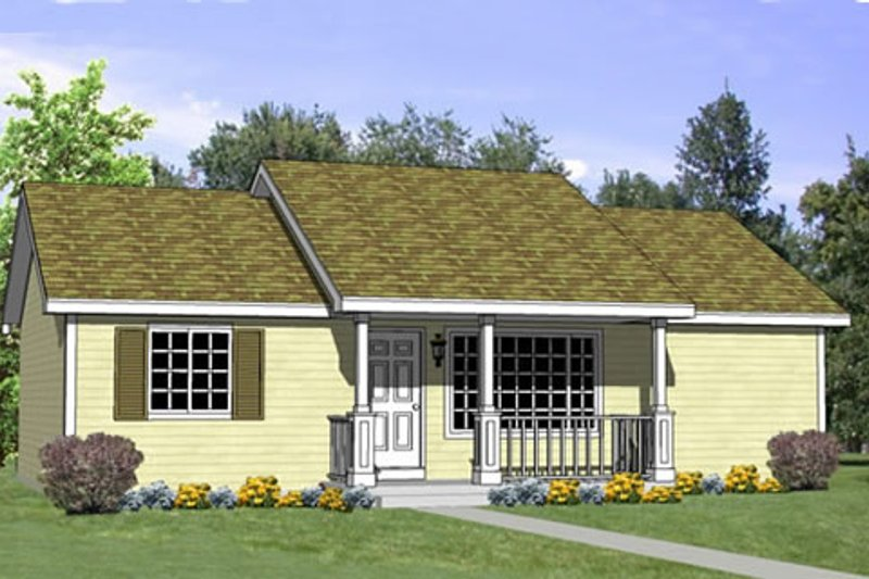 Traditional Style House Plan - 4 Beds 2 Baths 1040 Sq/Ft Plan #116-265 Exterior - Front Elevation