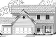 Traditional Style House Plan - 3 Beds 2.5 Baths 1725 Sq/Ft Plan #67-476 Exterior - Front Elevation