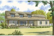 Country Style House Plan - 3 Beds 2.5 Baths 2245 Sq/Ft Plan #17-2617 Exterior - Rear Elevation