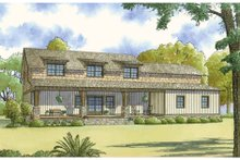 Dream House Plan - Country Exterior - Rear Elevation Plan #17-2617