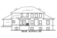 House Plan Design - Modern Exterior - Rear Elevation Plan #20-2268