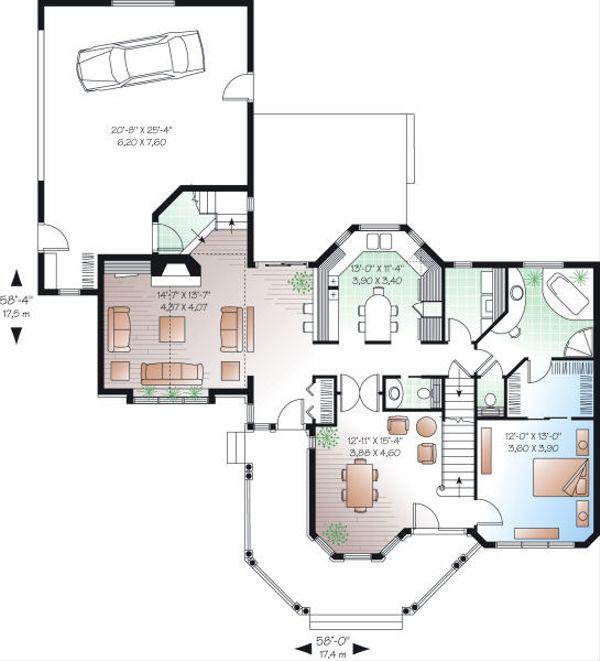 Victorian Floor Plan - Main Floor Plan Plan #23-750