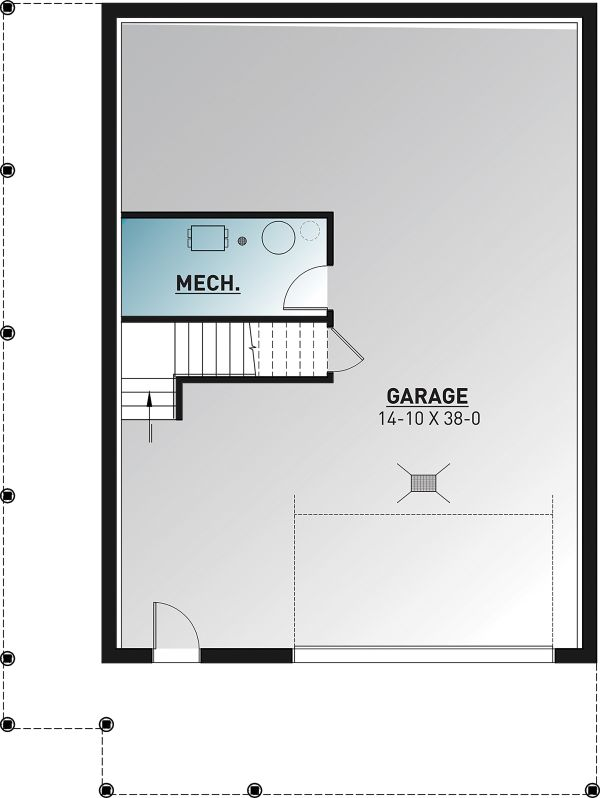 Cottage Floor Plan - Lower Floor Plan Plan #23-2718