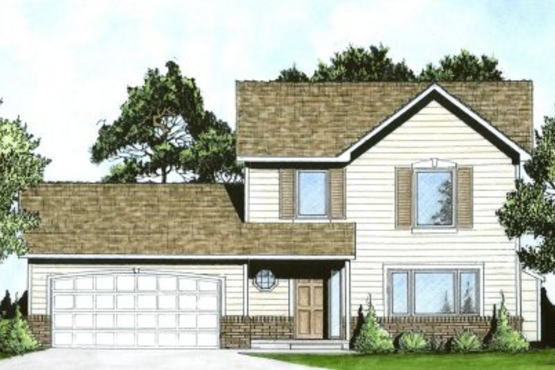 Traditional Exterior - Front Elevation Plan #58-192