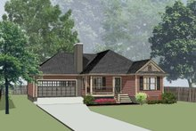 Dream House Plan - Traditional Exterior - Front Elevation Plan #79-165