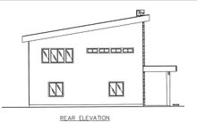 Dream House Plan - Contemporary Exterior - Rear Elevation Plan #117-885