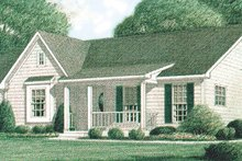 House Plan Design - Country Exterior - Front Elevation Plan #34-102