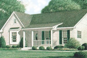 Architectural House Design - Country Exterior - Front Elevation Plan #34-102
