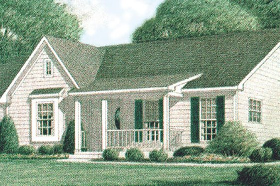 Country Exterior - Front Elevation Plan #34-102