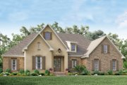 European Style House Plan - 4 Beds 2 Baths 2210 Sq/Ft Plan #430-137 Exterior - Front Elevation