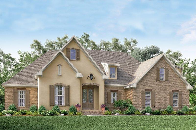Dream House Plan - European Exterior - Front Elevation Plan #430-137