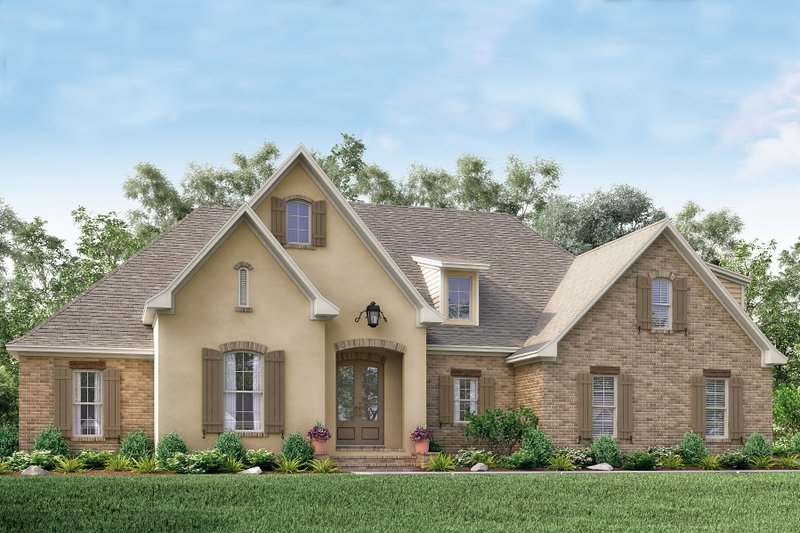 Home Plan - European Exterior - Front Elevation Plan #430-137