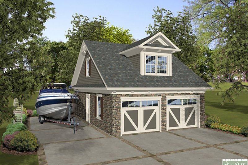 Home Plan - Craftsman,Garage with living space, Front Elevation,