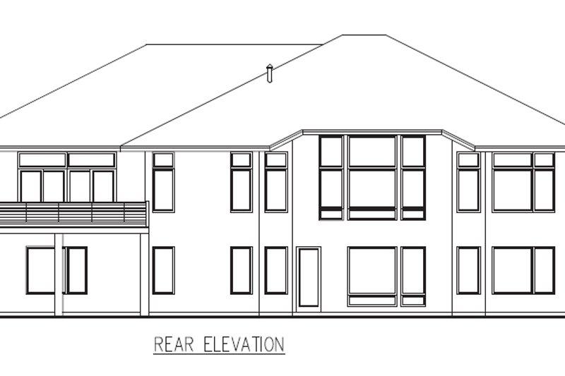 Contemporary Exterior - Rear Elevation Plan #56-601 - Houseplans.com