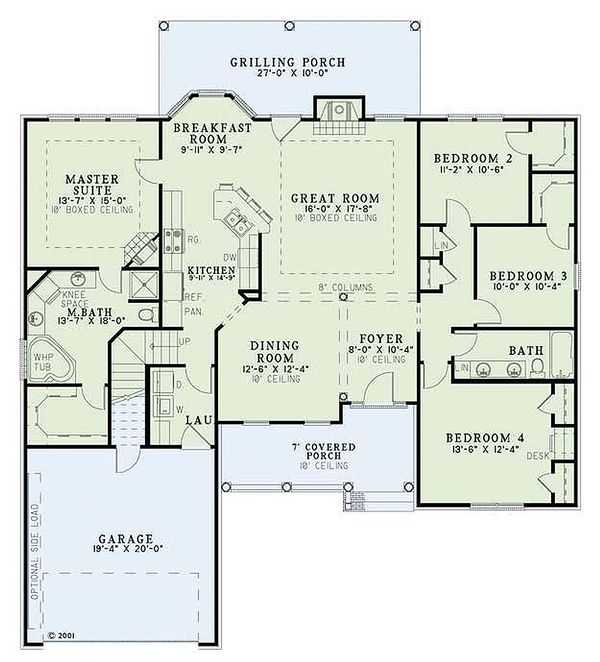 European Floor Plan - Main Floor Plan Plan #17-1124