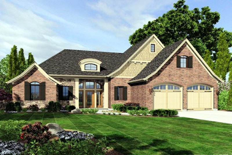 Home Plan - European Exterior - Front Elevation Plan #46-483