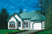 Traditional Style House Plan - 2 Beds 1 Baths 1108 Sq/Ft Plan #25-1156 Exterior - Front Elevation