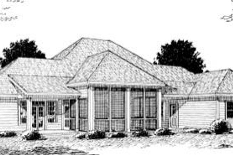 Country Exterior - Rear Elevation Plan #20-169 - Houseplans.com