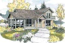 Dream House Plan - Craftsman Exterior - Front Elevation Plan #124-554