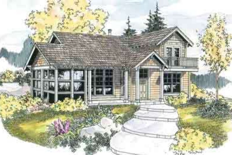Craftsman Exterior - Front Elevation Plan #124-554
