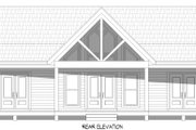 Country Style House Plan - 2 Beds 2 Baths 1357 Sq/Ft Plan #932-254 Exterior - Rear Elevation