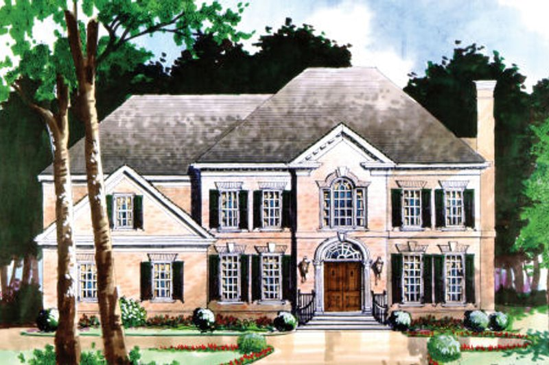 Dream House Plan - Colonial Exterior - Front Elevation Plan #429-7