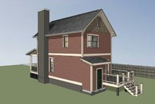 Colonial Exterior - Rear Elevation Plan #79-133