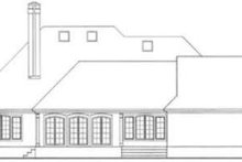 European Exterior - Rear Elevation Plan #406-186