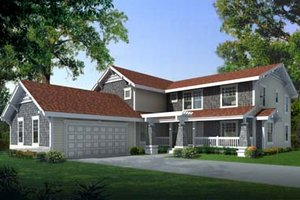 Craftsman Exterior - Front Elevation Plan #100-204