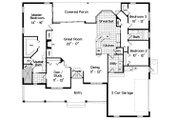 Ranch Style House Plan - 3 Beds 2 Baths 2127 Sq/Ft Plan #417-188 Floor Plan - Main Floor Plan