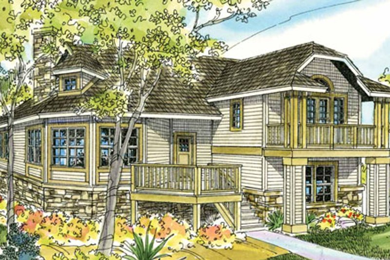 Craftsman Exterior - Front Elevation Plan #124-784 - Houseplans.com
