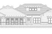 Ranch Style House Plan - 3 Beds 2 Baths 2100 Sq/Ft Plan #1077-9 Exterior - Front Elevation