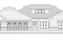 Ranch Exterior - Front Elevation Plan #1077-9