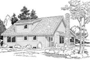 Country Style House Plan - 3 Beds 2 Baths 1415 Sq/Ft Plan #312-363 Exterior - Rear Elevation