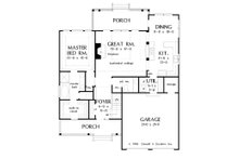 Country Floor Plan - Main Floor Plan Plan #929-52