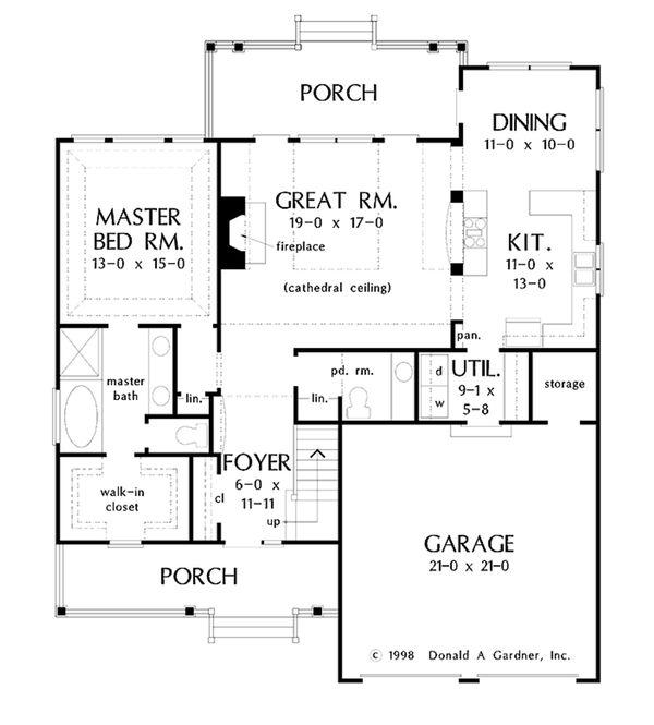 Home Plan - Country Floor Plan - Main Floor Plan #929-52